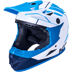 Kali Zoka Casco Uomo, white/blue/navy